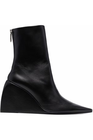 OFF-WHITE NAPPA DOLL WEDGE BOOTIE NO COLOR