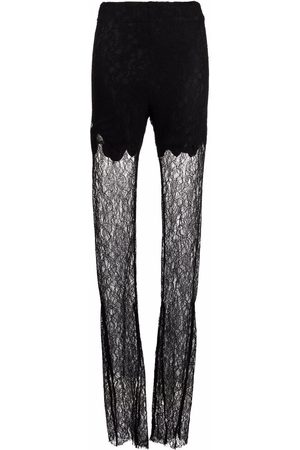 ALMAZ Lace-panelled flared trousers