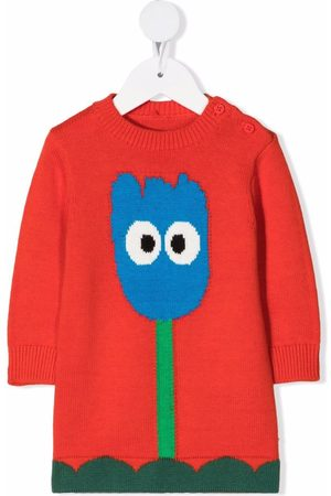 Stella McCartney Intarsia tulip knitted dress