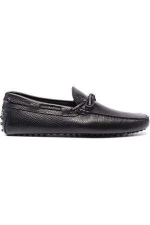 Tod's Lace-up pebbled loafers