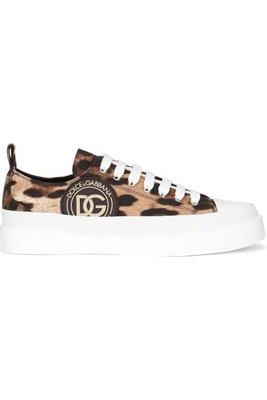 Dolce & Gabbana Leopard-print lace-up sneakers