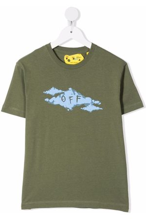 Off-White Kids OFF CLOUD TEE S/S MILITARY LIGHT BLUE
