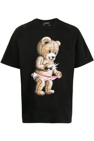 DOMREBEL Snap teddy-print T-shirt