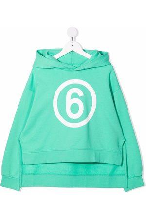 MM6 KIDS Logo-print pullover hoodie