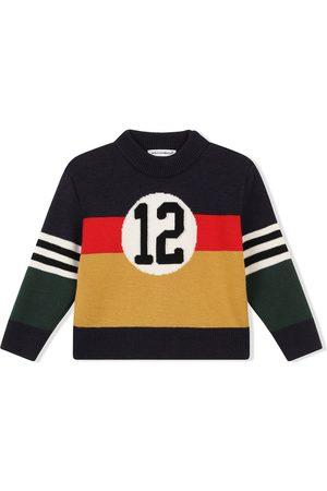 Dolce & Gabbana Colour-block virgin wool jumper