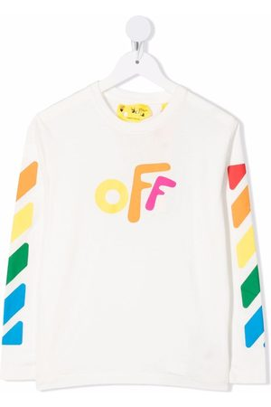 Off-White Kids OFF ROUNDED TEE L/S MULTICOLOR