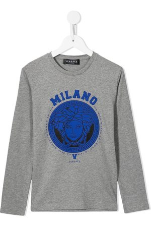 VERSACE Medusa-print longsleeved T-shirt