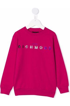 John Richmond Junior Sequin-logo sweatshirt