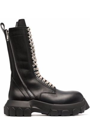 Rick Owens Eyelet-detail lace-up boots