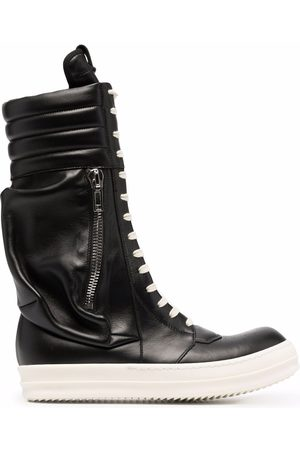 Rick Owens Zip-detail lace-up sneakers