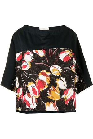 Marni Panelled floral-print top