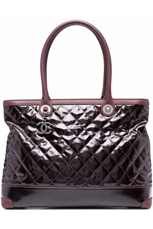 CHANEL 2012 CC diamond-quilted tote bag