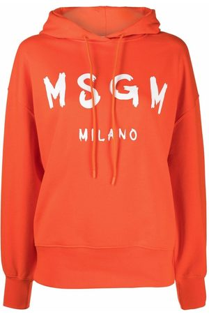 Msgm Logo-print pullover hoodie