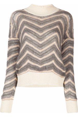 Fabiana Filippi Chevron-knitted jumper