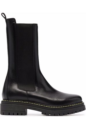 Pinko Chunky leather ankle boots