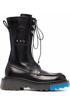 OFF-WHITE Sponge-sole lace-up boots