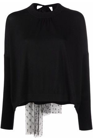 RED Valentino Swiss dot tulle-panel jumper
