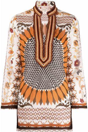 Tory Burch Floral-print longline tunic