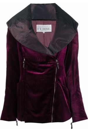 Gianfranco Ferré 1990s sailor collar double-zipped jacket