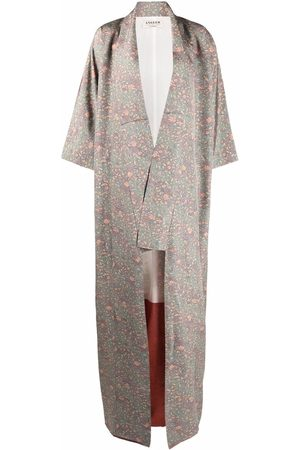 A.N.G.E.L.O. Vintage Cult 1970s floral square-sleeved silk robe