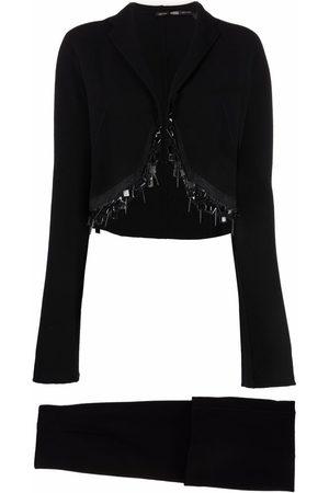 Gianfranco Ferré 1990s bead-trimmed skirt suit