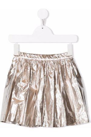 BONPOINT Metallic-pleated skirt