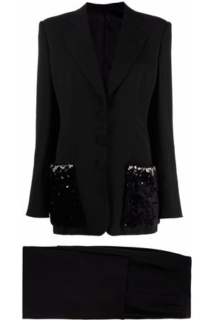 Gianfranco Ferré 1990s panelled pockets two-piece suit