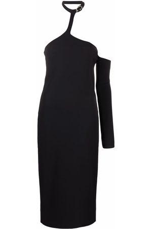 COPERNI One-sleeve chocker-collar dress