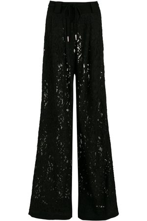 Andrea Bogosian Floral-lace flared trousers