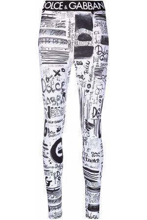 Dolce & Gabbana Graffiti-print leggings