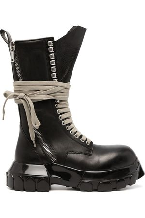 Rick Owens Chunky lace-up leather boots