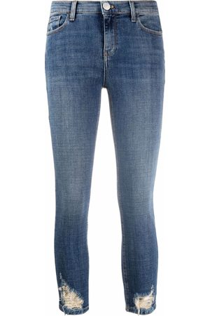 Pinko Distressed cropped jeans