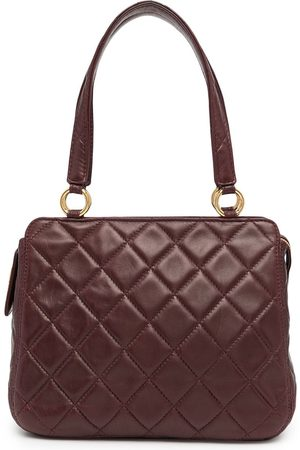 CHANEL 1998 logo-lettering diamond-quilted tote bag