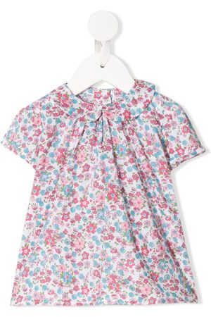 SIOLA Buttoned floral-print blouse