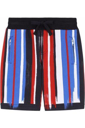 Dolce & Gabbana Painted stripe cotton shorts