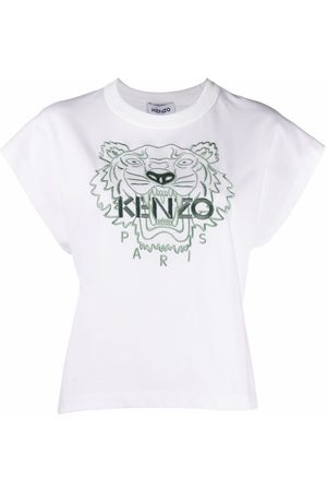 Kenzo Tiger embroidered cotton T-shirt