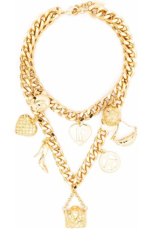Moschino Charm-detail chain-link necklace