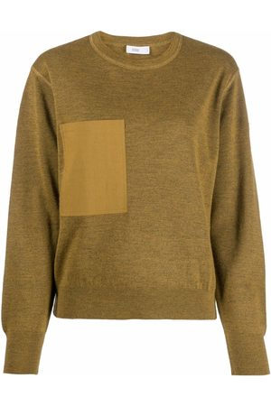 Closed Patch-pocket long-sleeved knitted top