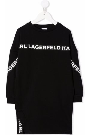 Karl Lagerfeld Logo tape sweater dress
