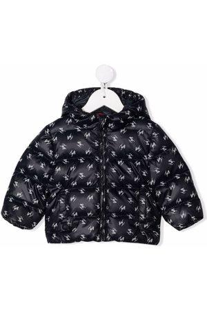 FAY KIDS Logo-print padded jacket