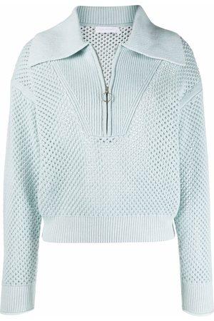 JONATHAN SIMKHAI Open-knit zipped jumper