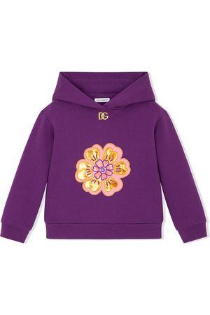 Dolce & Gabbana Floral-patch cotton hoodie
