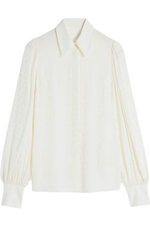 Victoria Victoria Beckham Long-sleeve logo jacquard shirt
