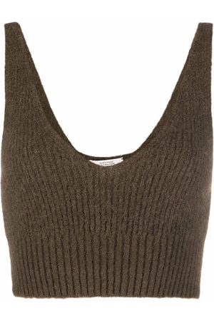 Dorothee Schumacher Cropped knit tank top