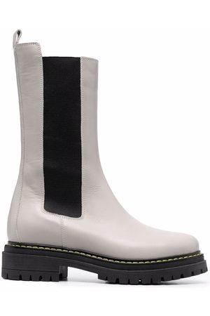 Pinko Leather elastic-panel boots