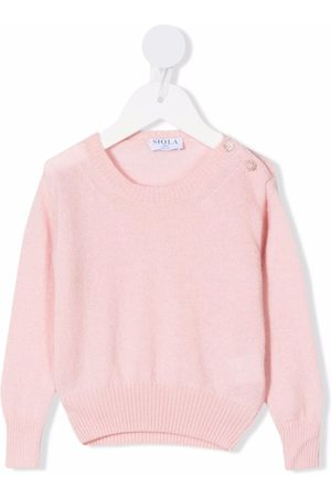 SIOLA Buttoned-shoulder knitted jumper