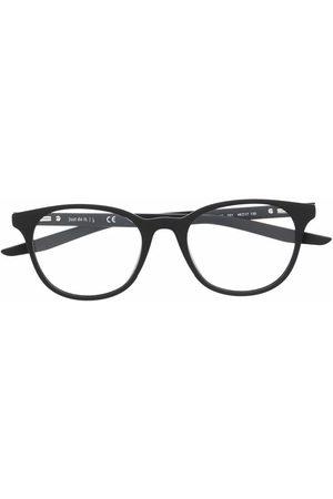 Nike Logo-print round-frame glasses