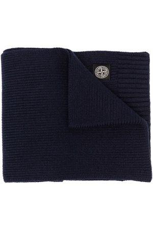 Stone Island Logo-patch knit scarf