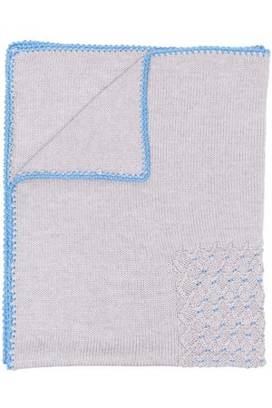 SIOLA Embroidered merino blanket
