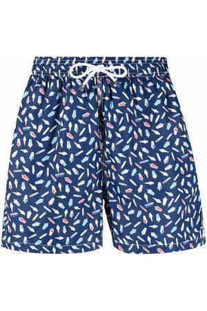 Hackett Ice cream-print swim shorts